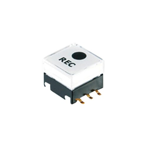 PCB mount, push button switch with led illumination, custom caps, 12mm square cap, rjs electronics ltd
