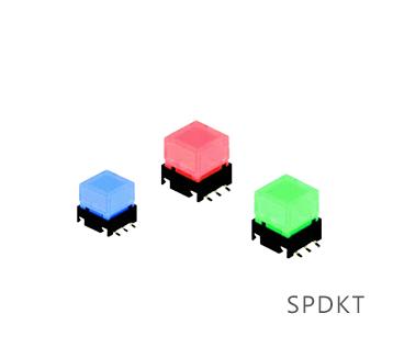 SPDK - low profile switches, switches with LED illumination. available with single LED illumination, RGB ILLUMINATION, RJS Electronics Ltd.