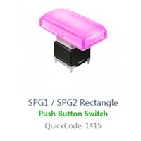 PCB, Panel Mount, SPG1-sPG2 - rect SWITCH with LED illumination, Single colour, BI-COLOUR, RGB LED ILLUMINATION, - RJS ELECTRONICS LTD