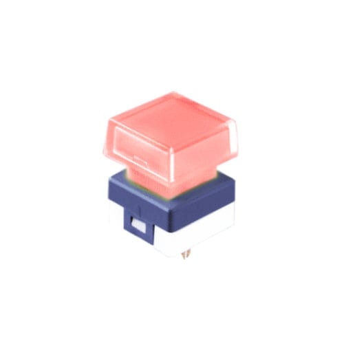 illuminated push button switch, pcb mount, broadcast switch