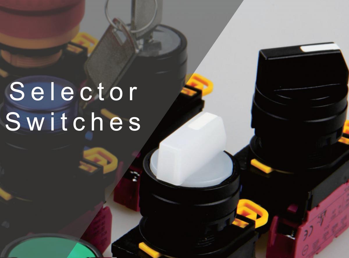 Selector Switches with LED illumination, ring LED illumination IP rating, round, sqaure or rectangular, RJS Electronics Ltd.