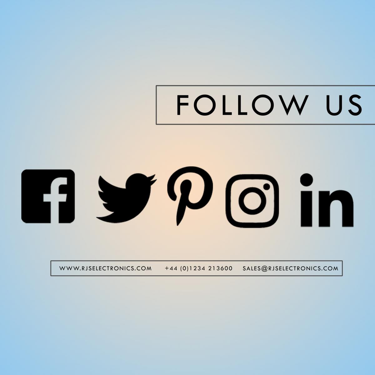 facebook, twitter, pinterest, instagram, linkedin, RJS Electronics Ltd