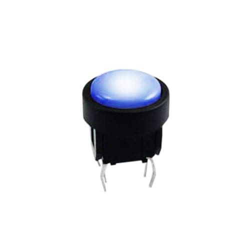 led illuminated push button switch with momentary function and bi-colour option, available at rjs electronics ltd