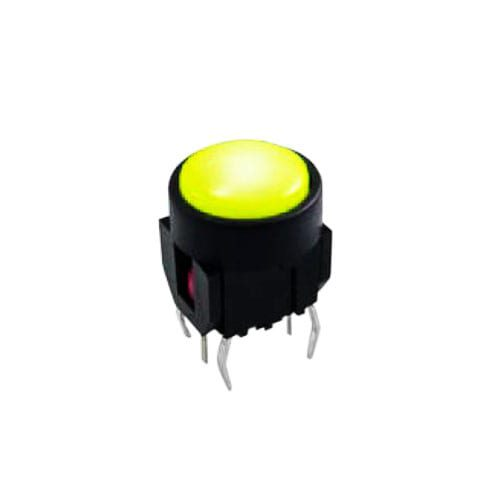 tactile push button switch with led illumination. Available at RJS Electronics Ltd