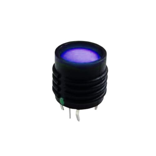 pcb push button switch with tactile feel, full led illumination, pcb terminals, momentary function, rjs electronics
