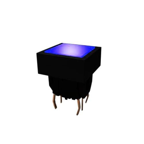 push button switch, tactile feel, led illuminated, bi-colour available, pcb terminals, rjs electronics ltd