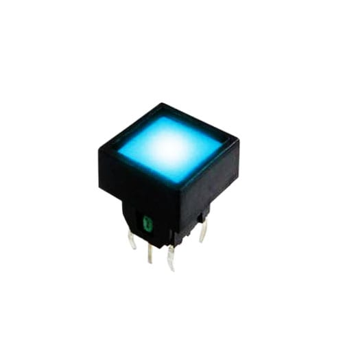 push button switch, pcb switch, tactile feel, led illuminated, rjs electronics