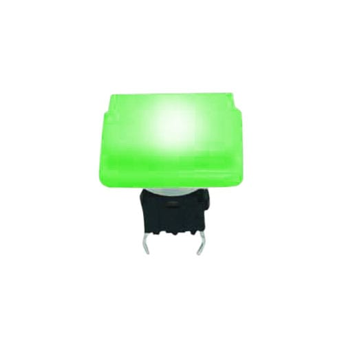 push button switch, pcb terminals, tactile push, led illuminated, rjs electronics