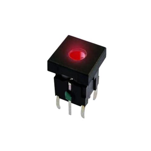 square push button switch with dot led illumination. rjs electronics