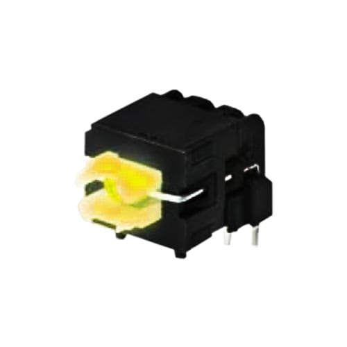Right angle, housing switch, TP613, PCB push buttons switch, available in momentary and latching function. RJS Electronics Ltd.