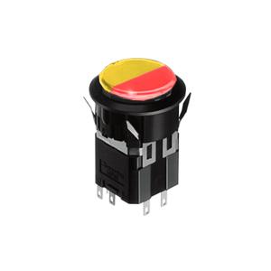 WH Illuminated push button switch - round- 25mm push button switch - red + yellow Single LED illumination, Bi-colour LED Illumination, RGB Illumination, ring LED illumination, dot illumination, full illumination, split face illumination, dual illumination, - RJS Electronics Ltd.