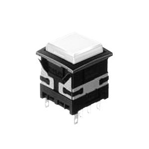 XH Illuminated push button switch - square - white - 19mm push button switch - RJS Electronics Ltd.