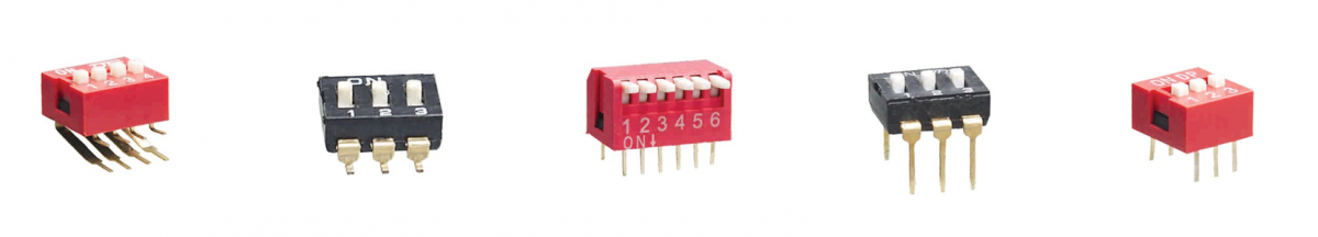 Dip switches, pcb mount switches, rjs electronics ltd