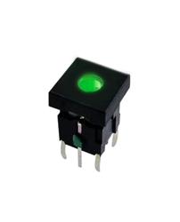 push button switch with dot led illumination, pcb mount