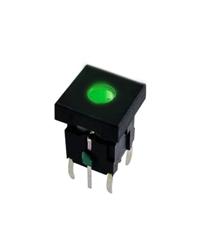 push button switch with dot led illumination, pcb mount