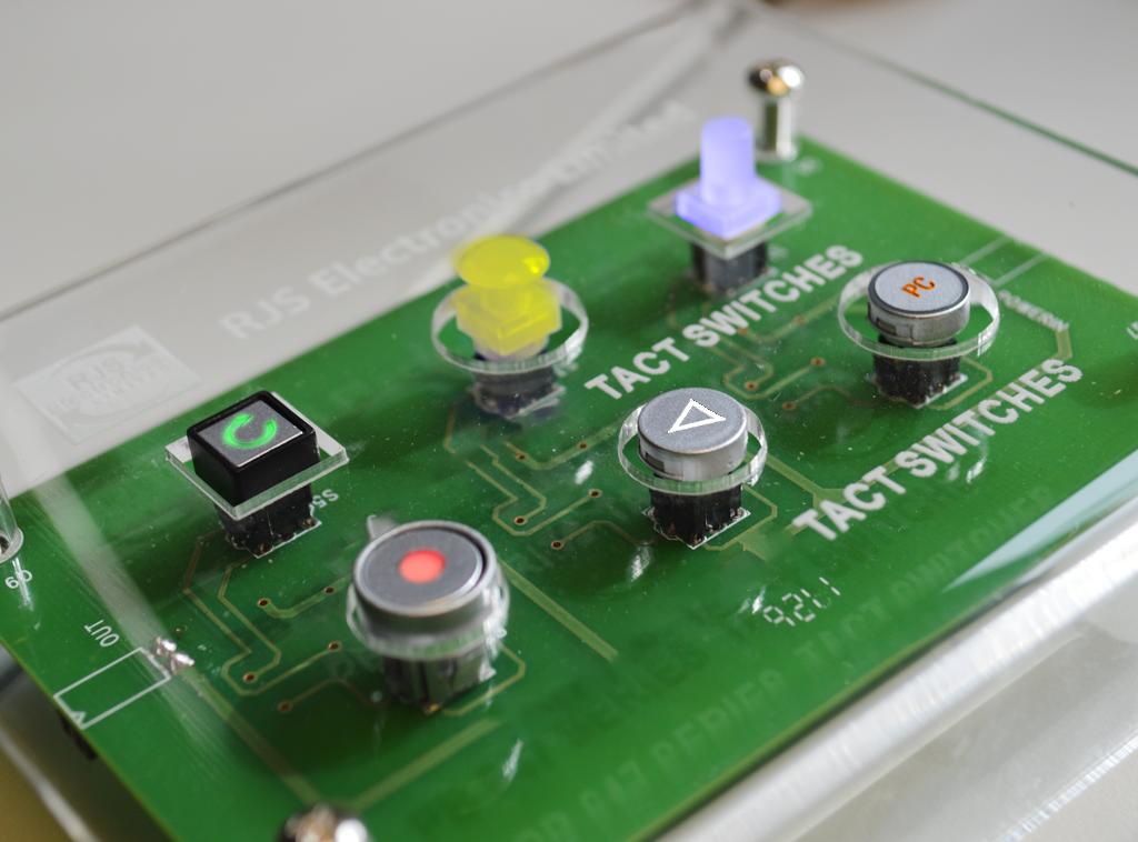illuminated and non-illuminated Tact Switches RJS Electronics Ltd.