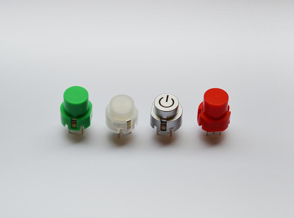 non illuminated and illuminated Push Button Switches, KS01 Range. RJS Electronics Ltd