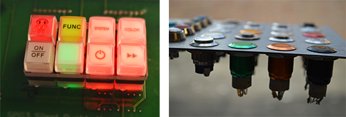panel mount and pcb mount examples