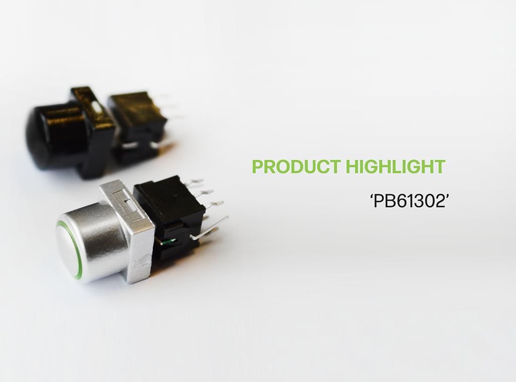 Product Highlight PB61302 pcb illuminated push button switch