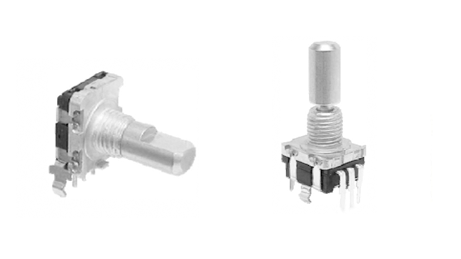 right angle or vertical pots and encoder types, available at rjs electronics ltd