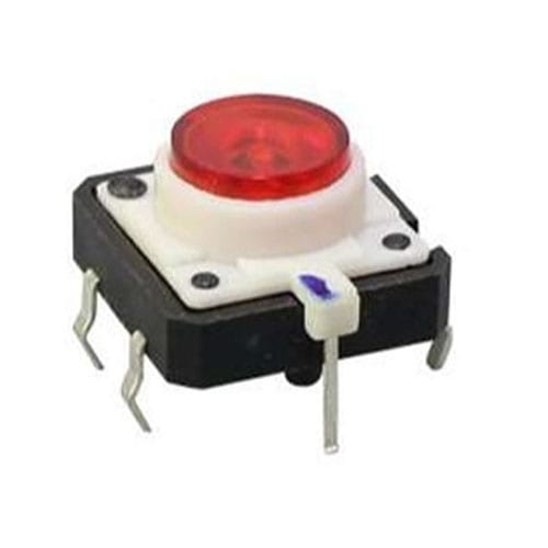 minature tactile switch with LED illumination and momentary function. Silent and click sound feed back. RJS Electronics Ltd.