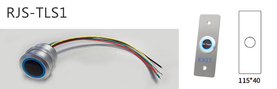 rjs-tls1-dimentions and switch - dual LED illumination, RJS Electronics Ltd.