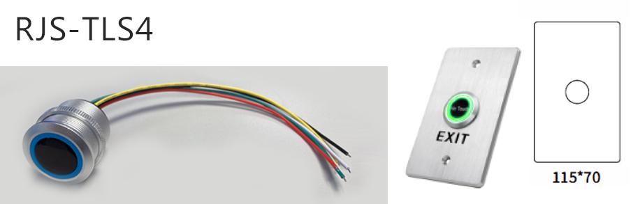 rjs-tls4-dimentions and switch - dual LED illumination, RJS Electronics Ltd.
