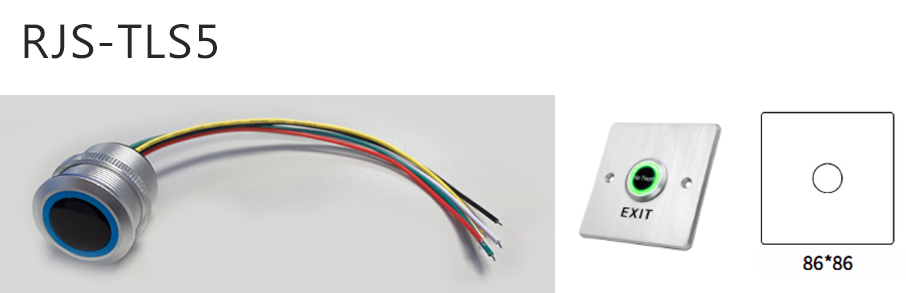 rjs-tls5-dimentions and switch - dual LED illumination, RJS Electronics Ltd.