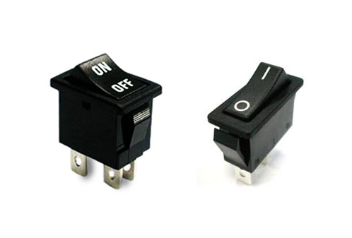 rocker switches with text and markings