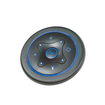 RJS-SF66BA-Z, Navigation switch, with blue LED illumination. Panel mount navigation switch, rubber material, RJS Electronics Ltd.