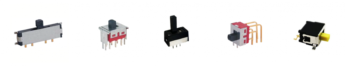 slide switches, smd type, vertical type, pcb mount, rjs electronics ltd