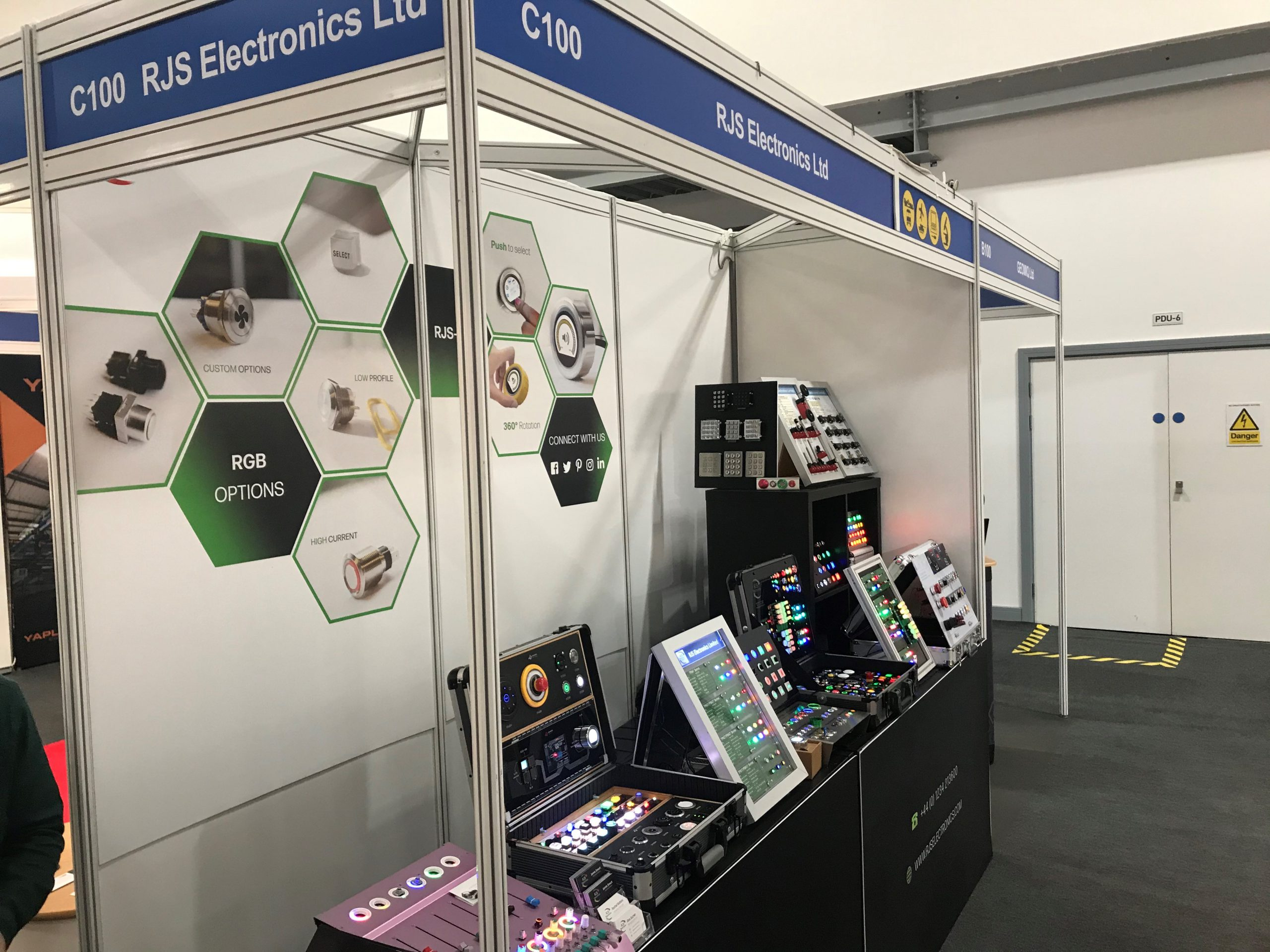 Relays, Switches, Industrial Controls, door entry, key pads, snap-action, gaming, LED Illumination switches. RJS Electronics Ltd.