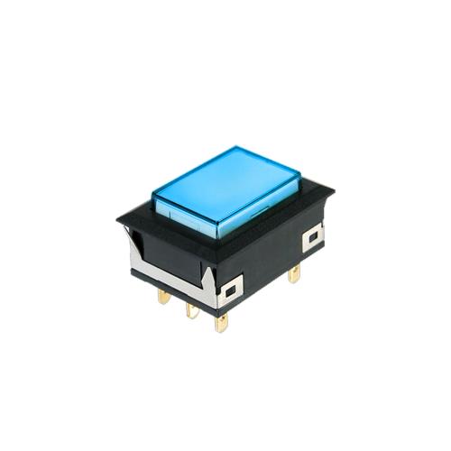 spc rectangular push button switch led illumination - rjs electronics ltd