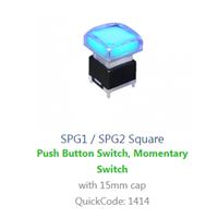 PCB, Panel Mount, spg1-spg2 sq SWITCH LED with illumination, Single colour, BI-COLOUR, RGB LED ILLUMINATION, - RJS ELECTRONICS LTD