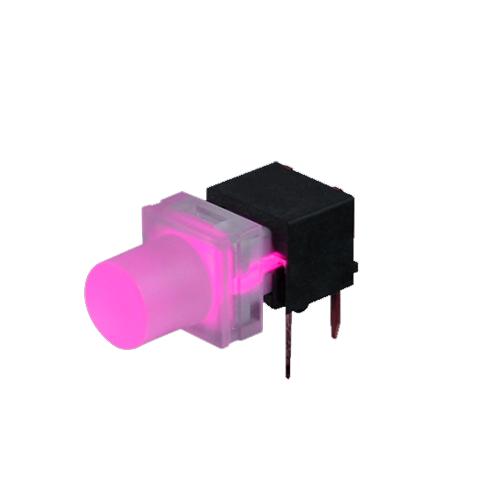 Right angle pcb push button switch, led illumination, SPJ switch, rjs electronics ltd