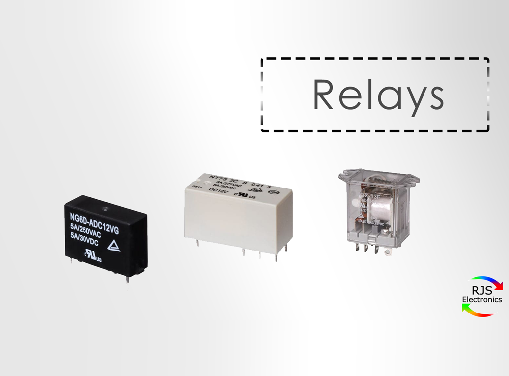 Relay switches with RJS Electronics Ltd. Automotive relays, general relays, communication relays, general purpose and heavy duty, RJS Electronics Ltd.