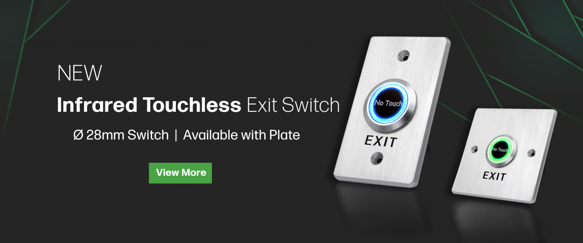 Touchless infrared exit switch, rjs electronics ltd