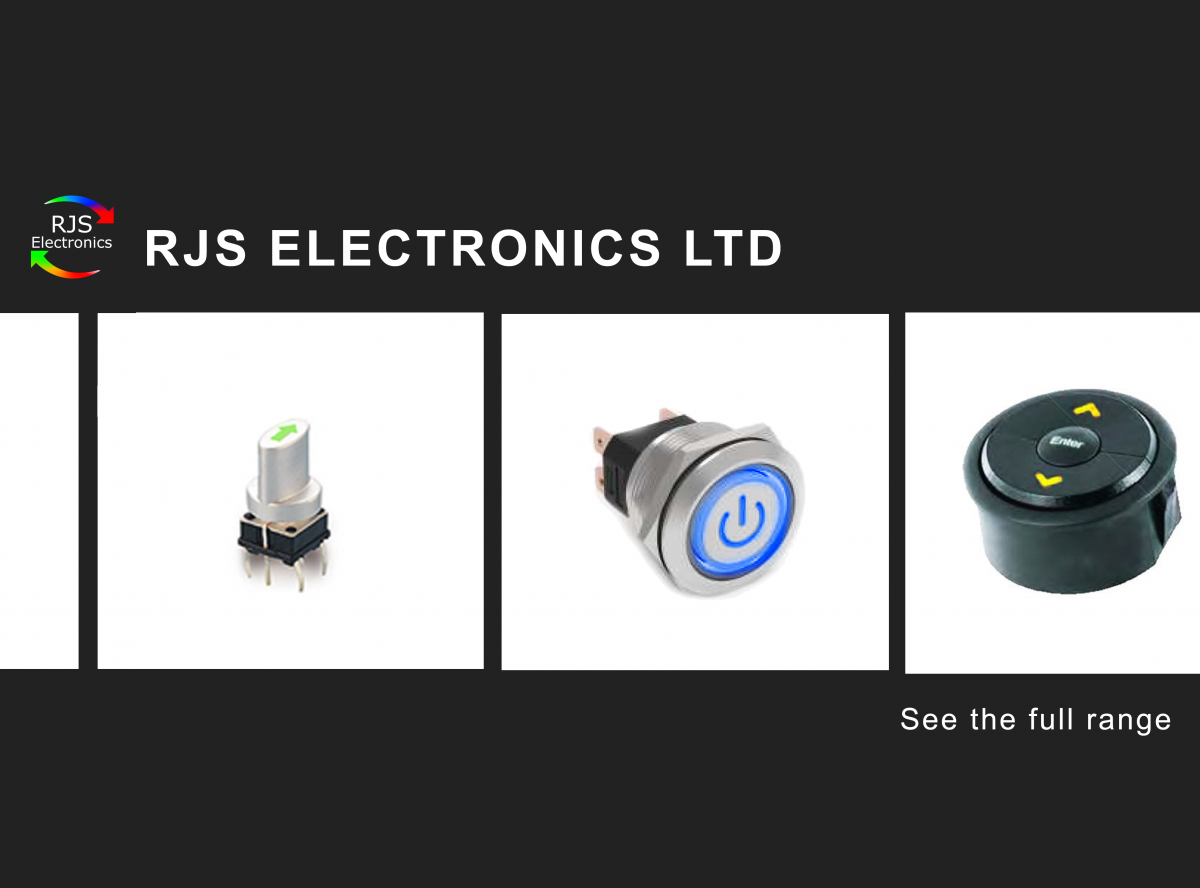 RJS Electronics Ltd, Series promotion, pcb, panel mount, navigation switches, LED illumination, non-illuminated caps, high current, SNA3, navigation module, custom etching and stamping, RJS Electronics Ltd.